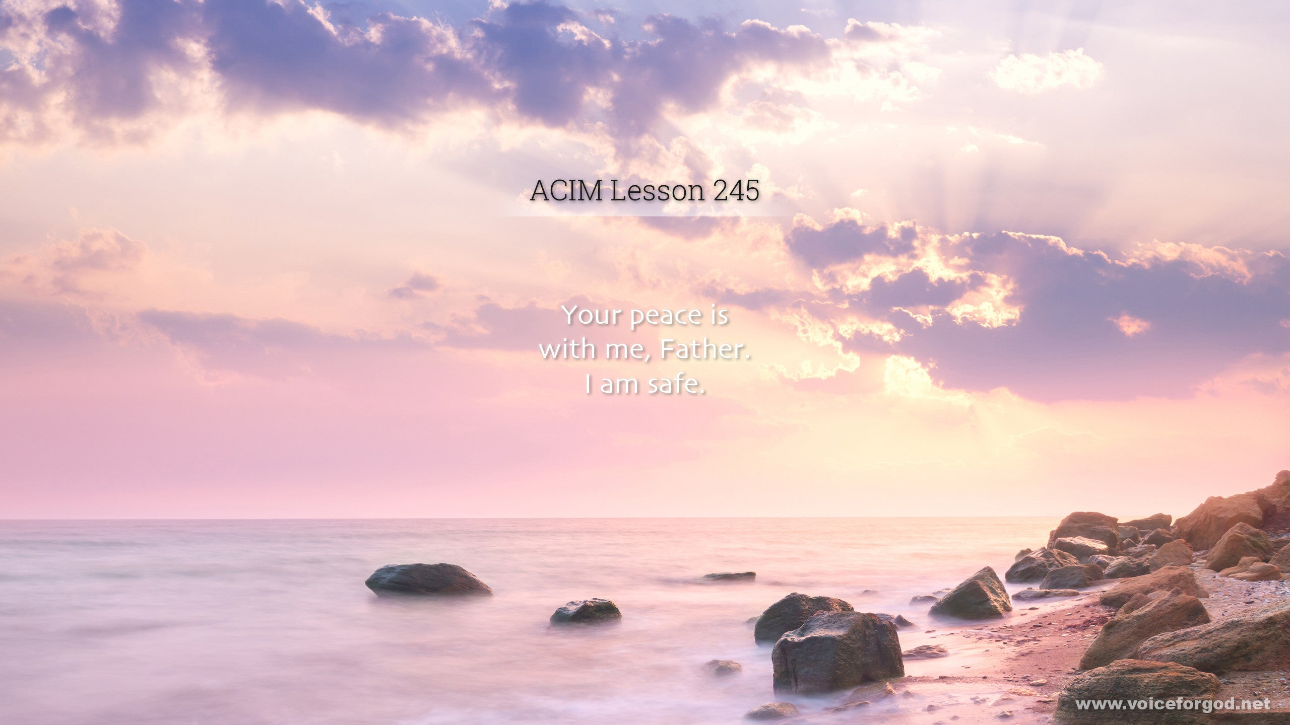 ACIM Lesson 245 - A Course in Miracles Workbook Lesson 245