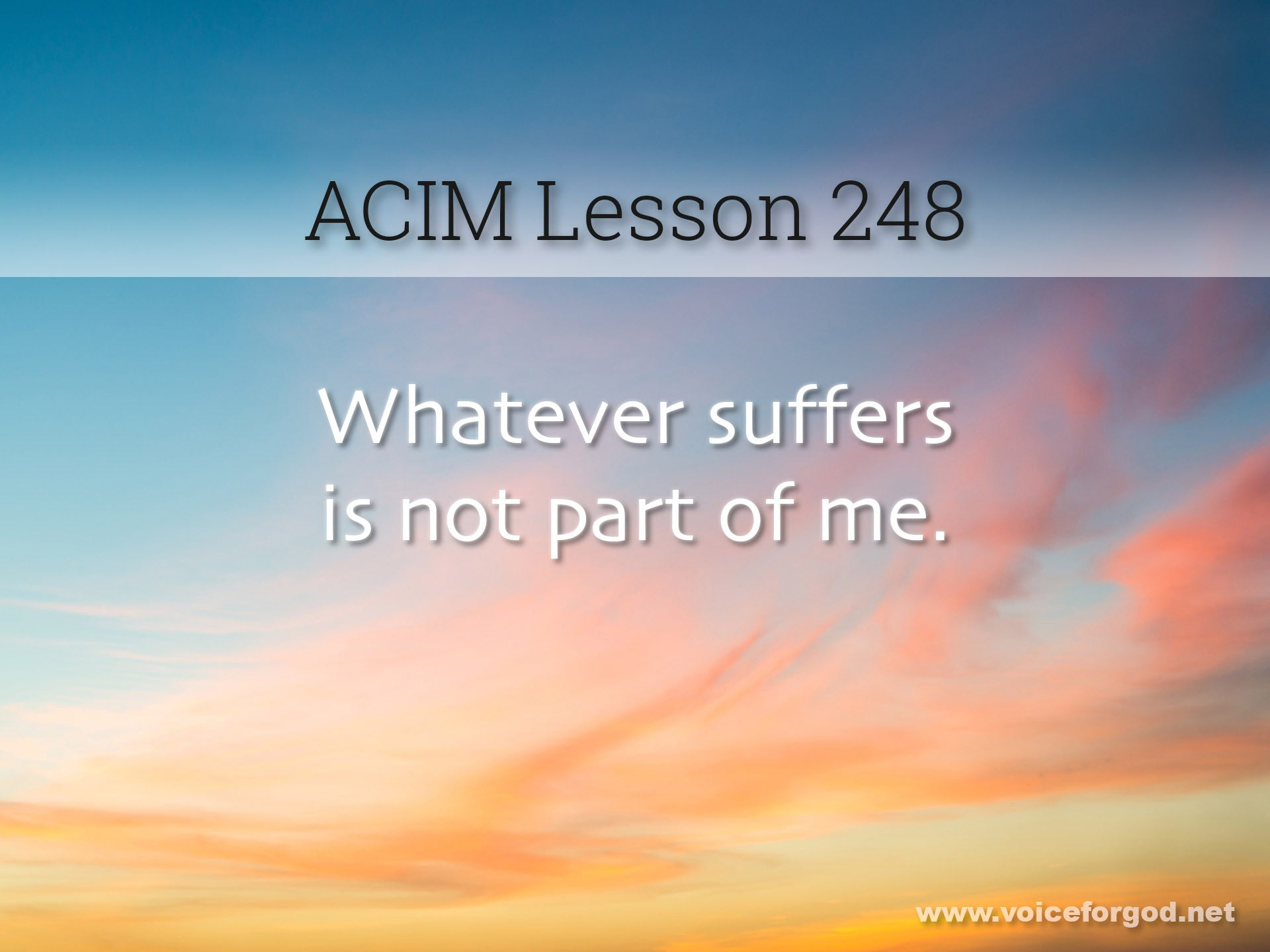 ACIM Lesson 248 - A Course in Miracles Workbook Lesson 248