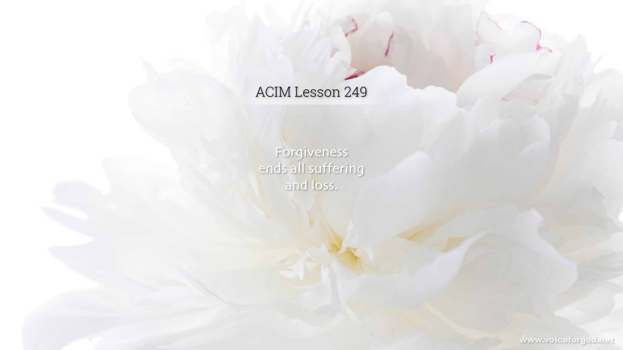 ACIM Lesson 249 - A Course in Miracles Workbook Lesson 249