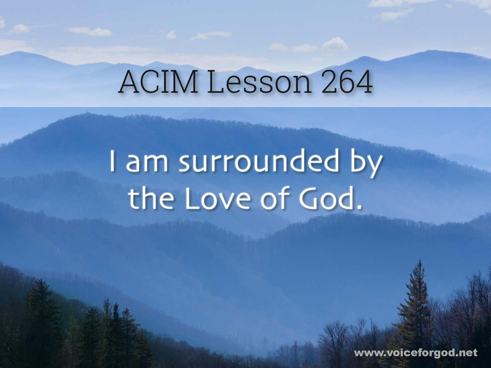 ACIM Lesson 264 - A Course in Miracles Workbook Lesson 264