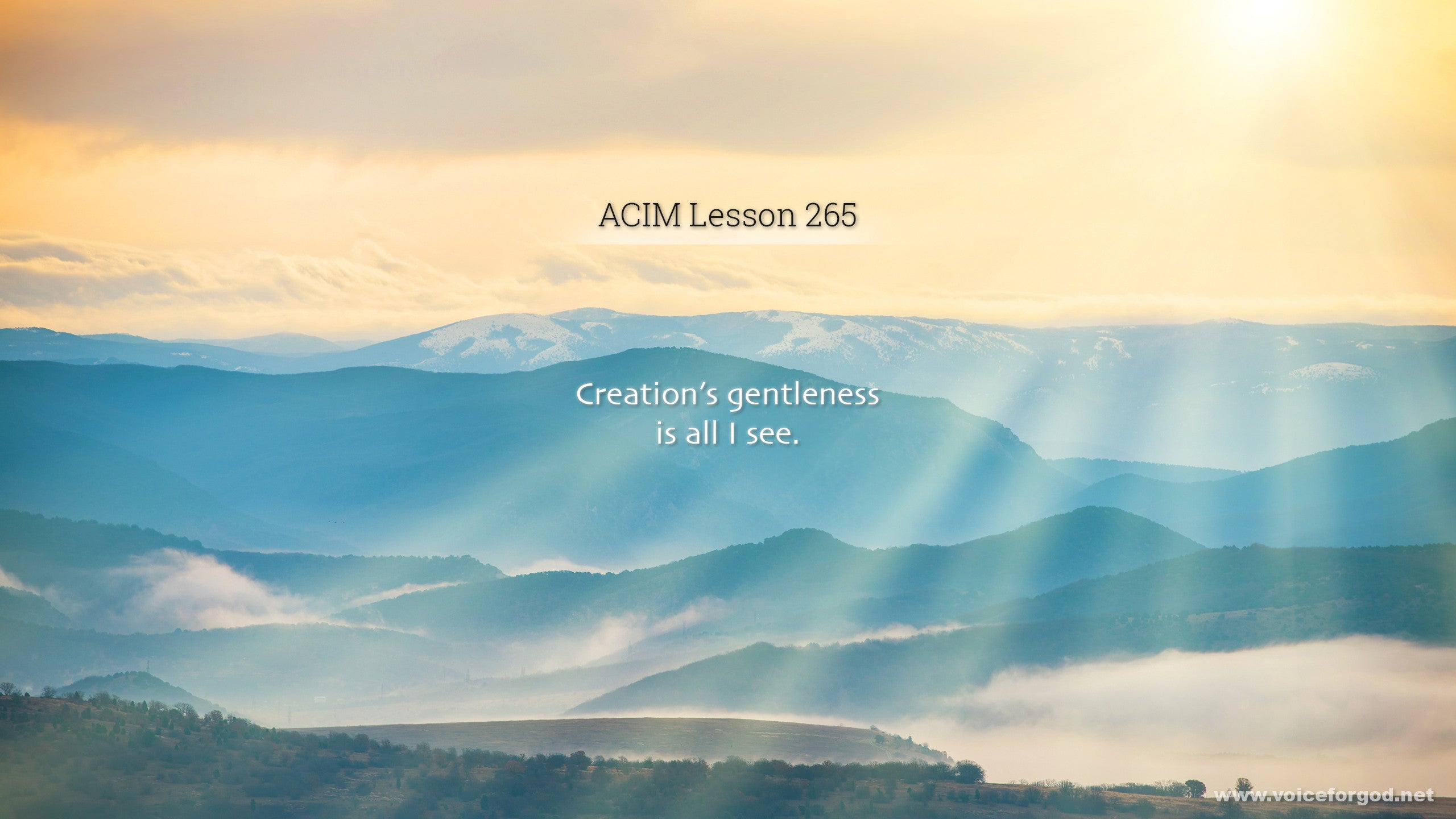 ACIM Lesson 265 - A Course in Miracles Workbook Lesson 265