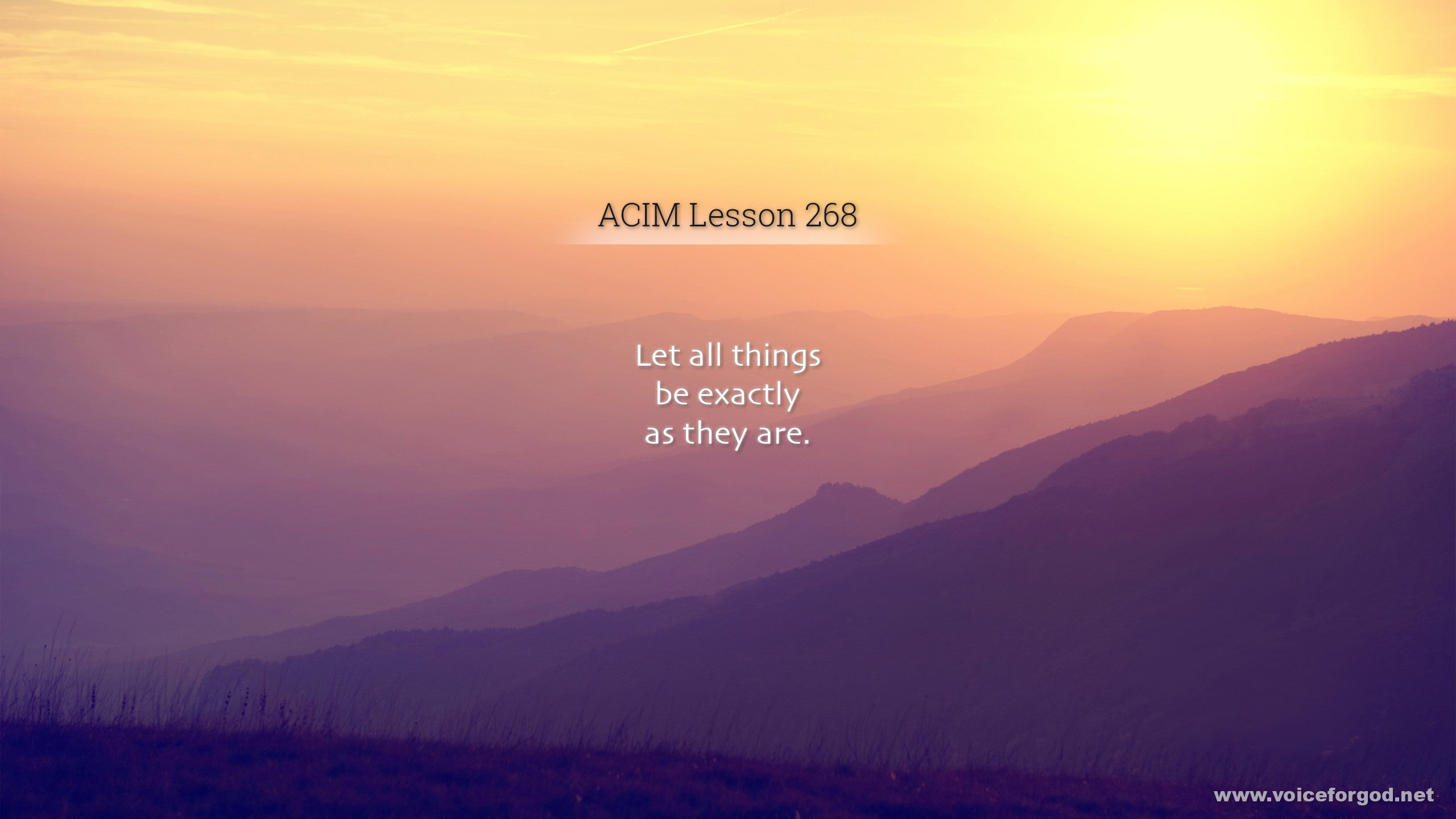 ACIM Lesson 268 - A Course in Miracles Workbook Lesson 268