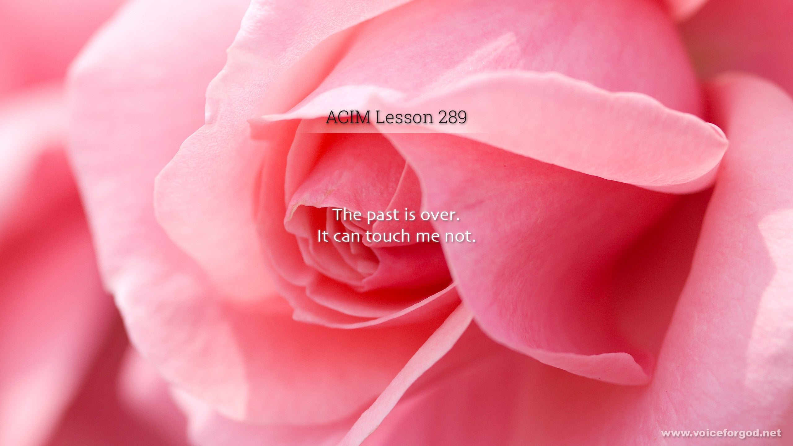 ACIM Lesson 289 - A Course in Miracles Workbook Lesson 289