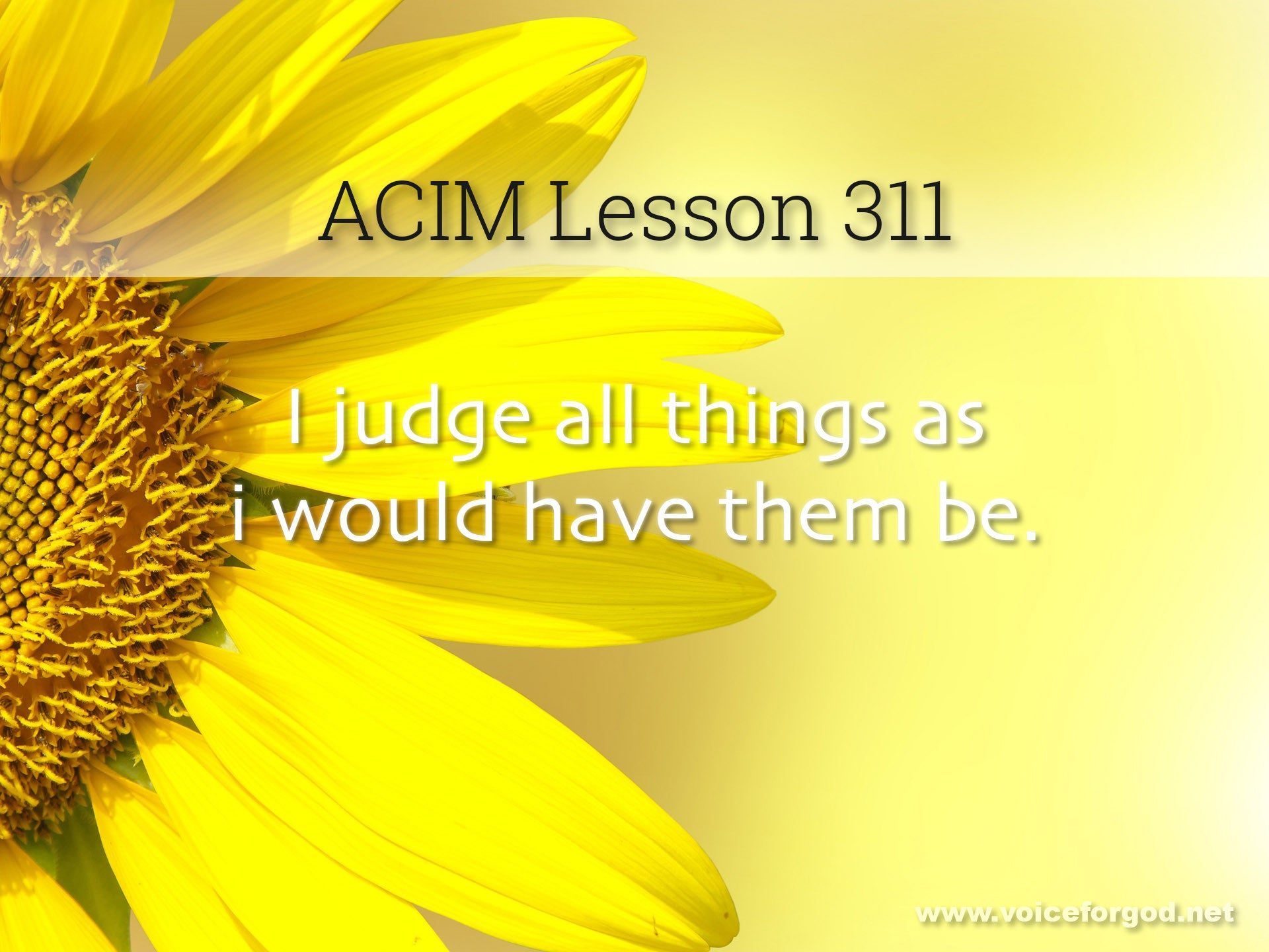 ACIM Lesson 311 - A Course in Miracles Workbook Lesson 311