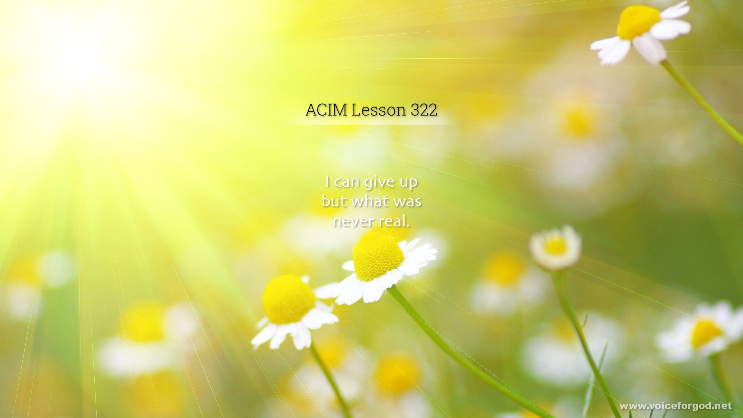 ACIM Lesson 322 - A Course in Miracles Workbook Lesson 322
