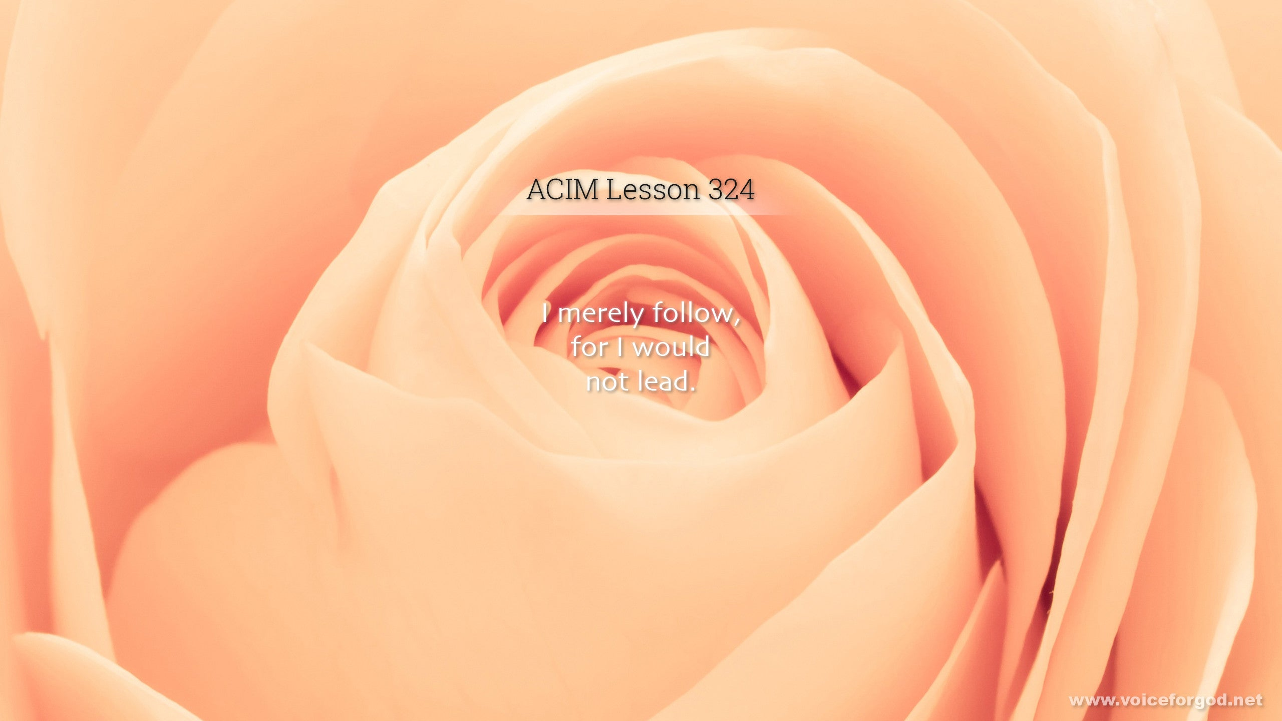 ACIM Lesson 324 - A Course in Miracles Workbook Lesson 324