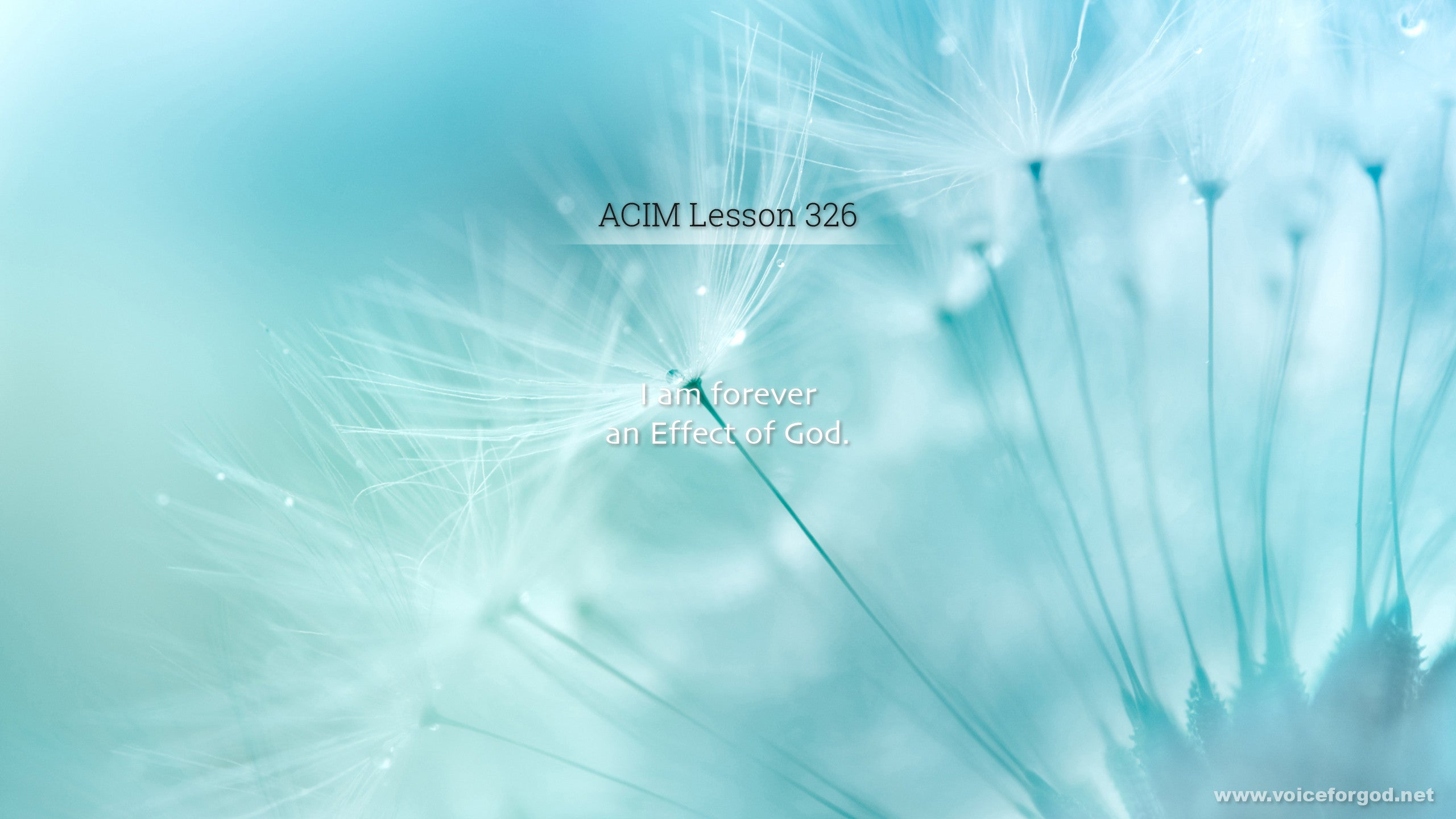ACIM Lesson 326 - A Course in Miracles Workbook Lesson 326