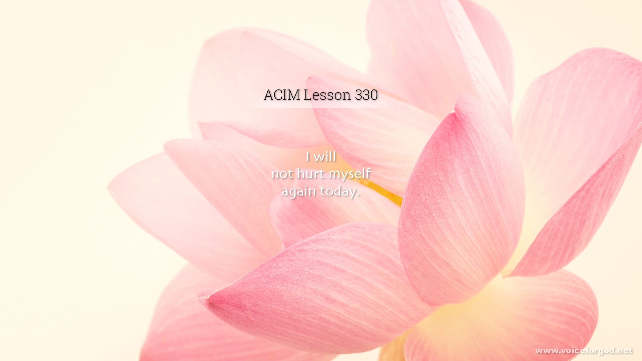 ACIM Lesson 330 - A Course in Miracles Workbook Lesson 330
