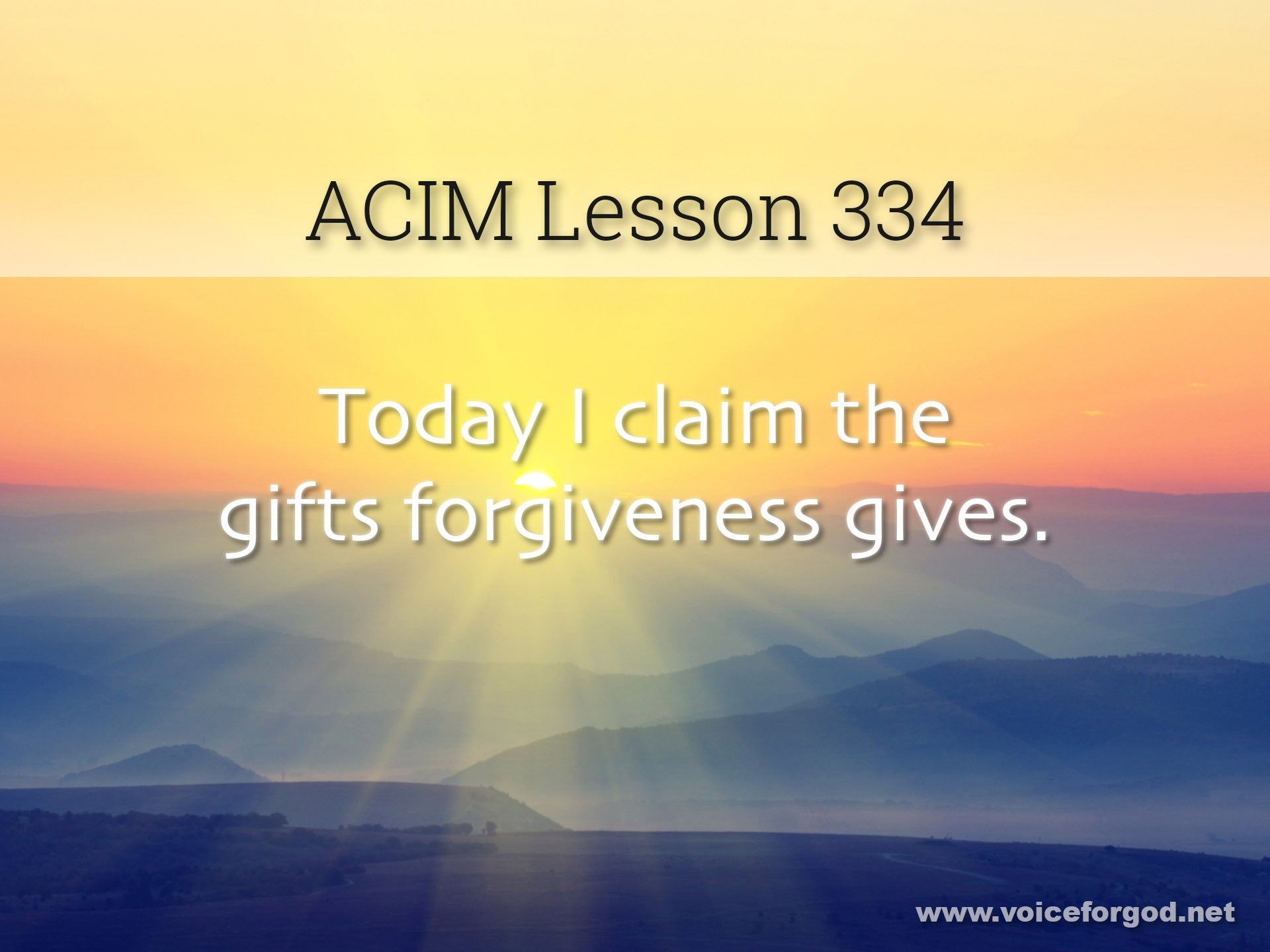 ACIM Lesson 334 - A Course in Miracles Workbook Lesson 334