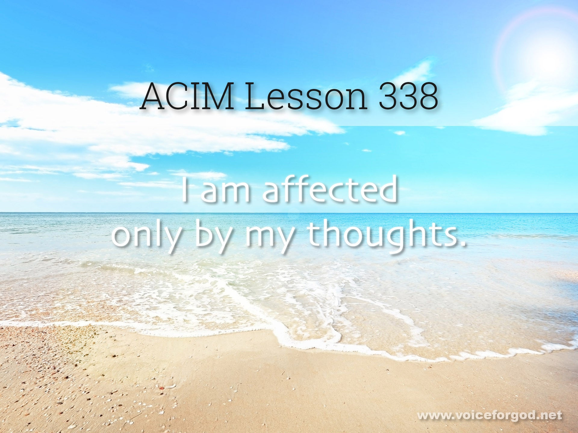 ACIM Lesson 338 - A Course in Miracles Workbook Lesson 338
