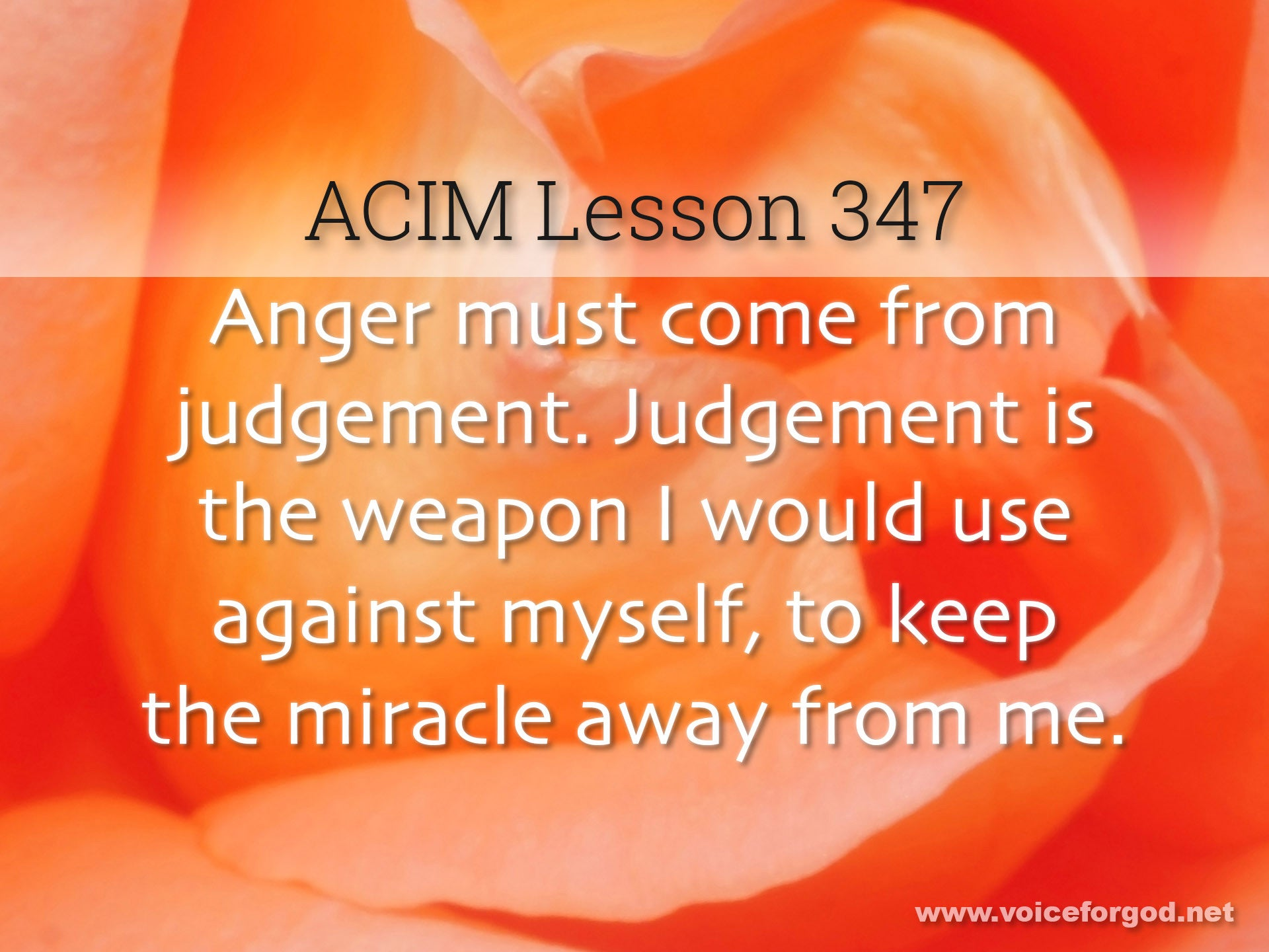 ACIM Lesson 347 - A Course in Miracles Workbook Lesson 347