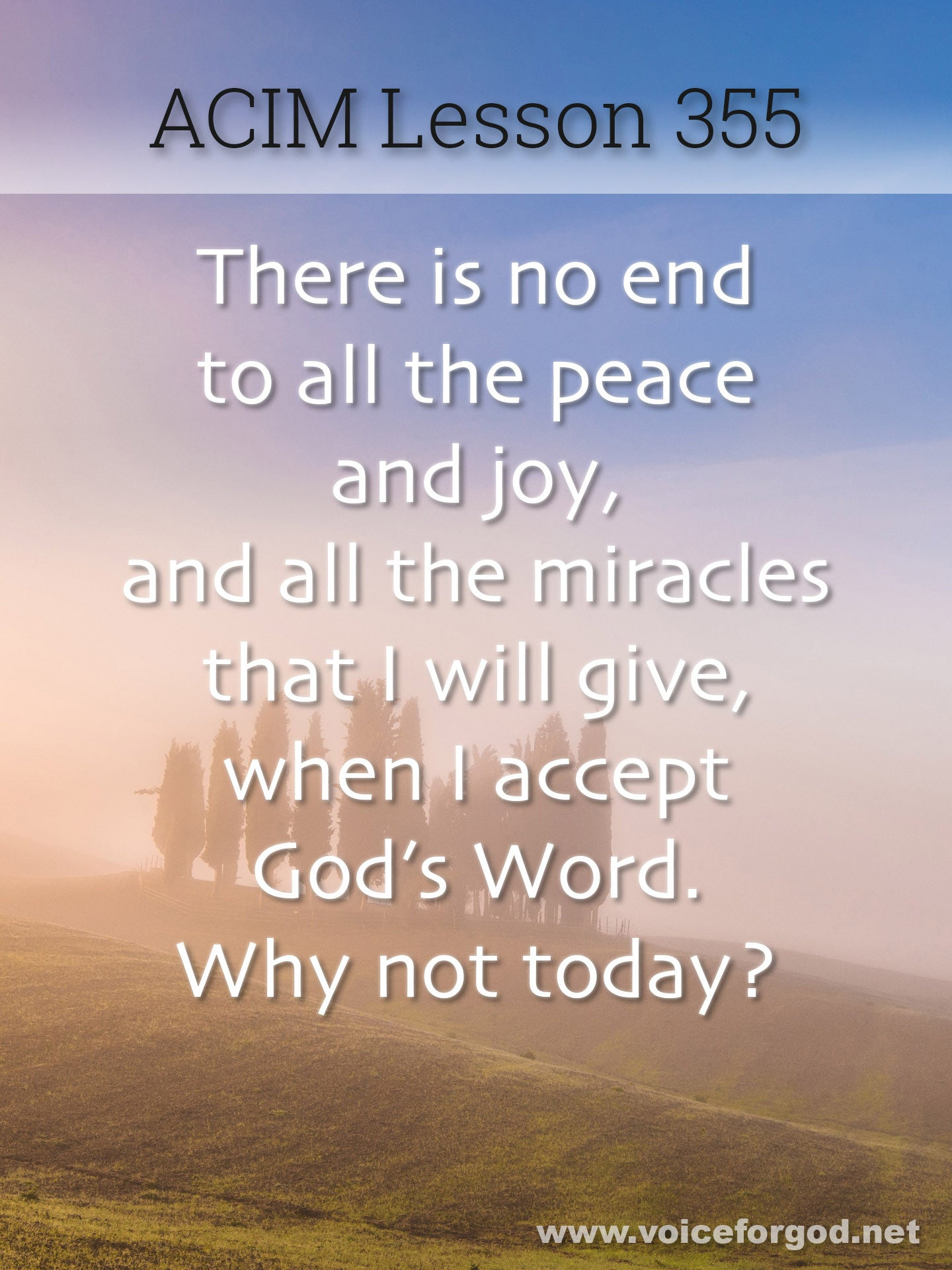 ACIM Lesson 355 - A Course in Miracles Workbook Lesson 355