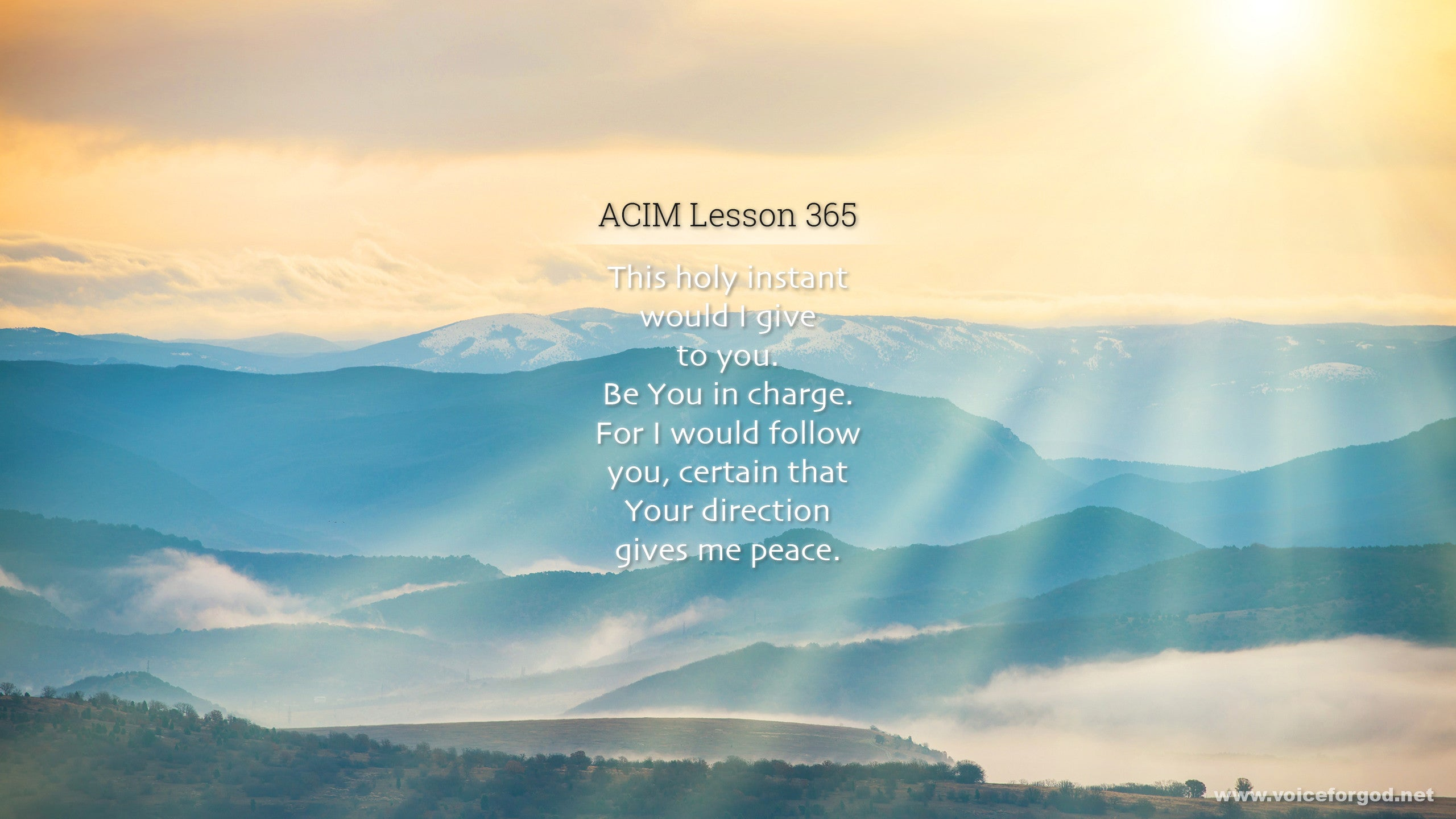 ACIM Lesson 365 - A Course in Miracles Workbook Lesson 365