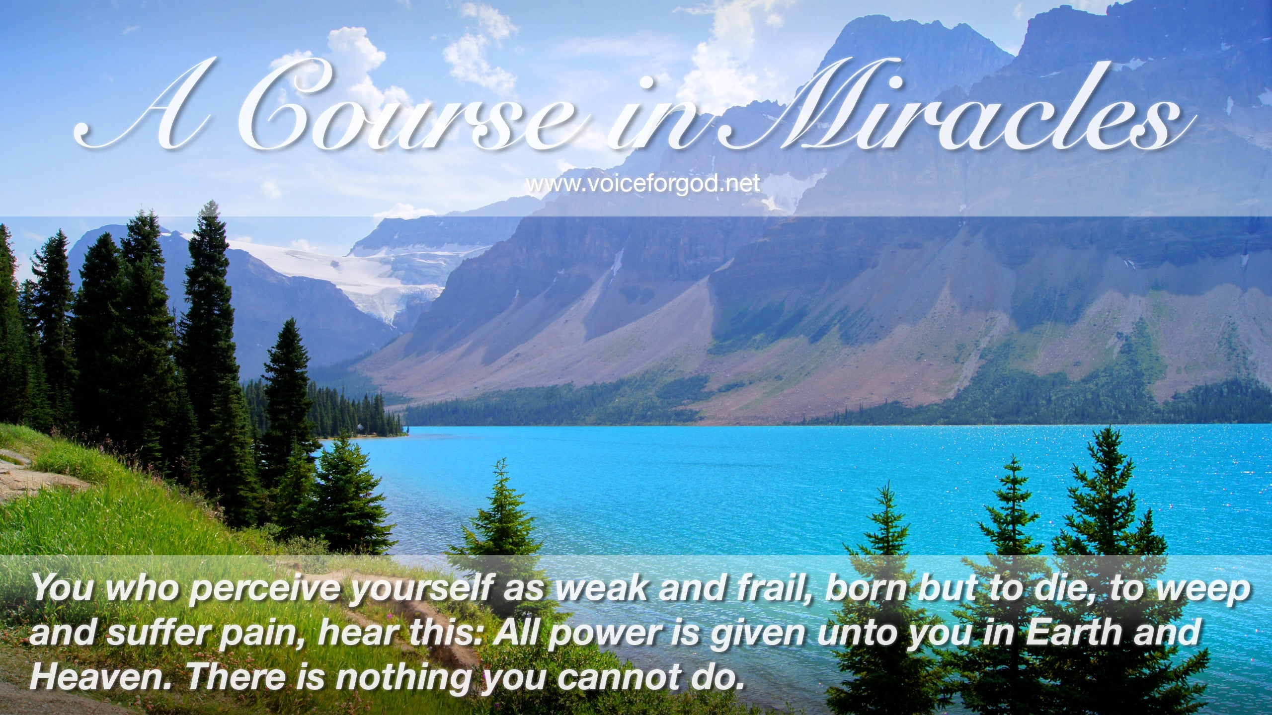 Acim Acim Quote 0909 A Course In Miracles Quotes Voice For God