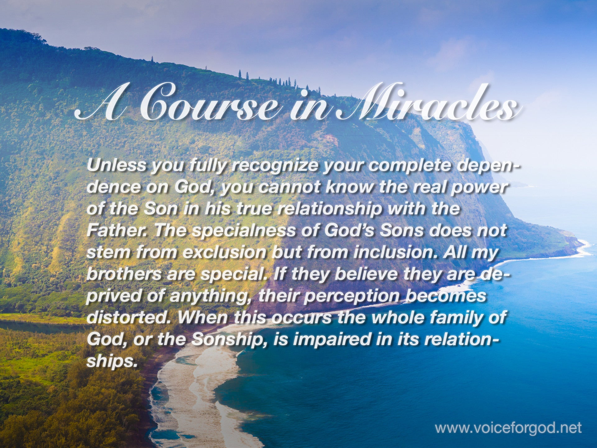 Acim Acim Quote 1029 A Course In Miracles Quotes Voice For God