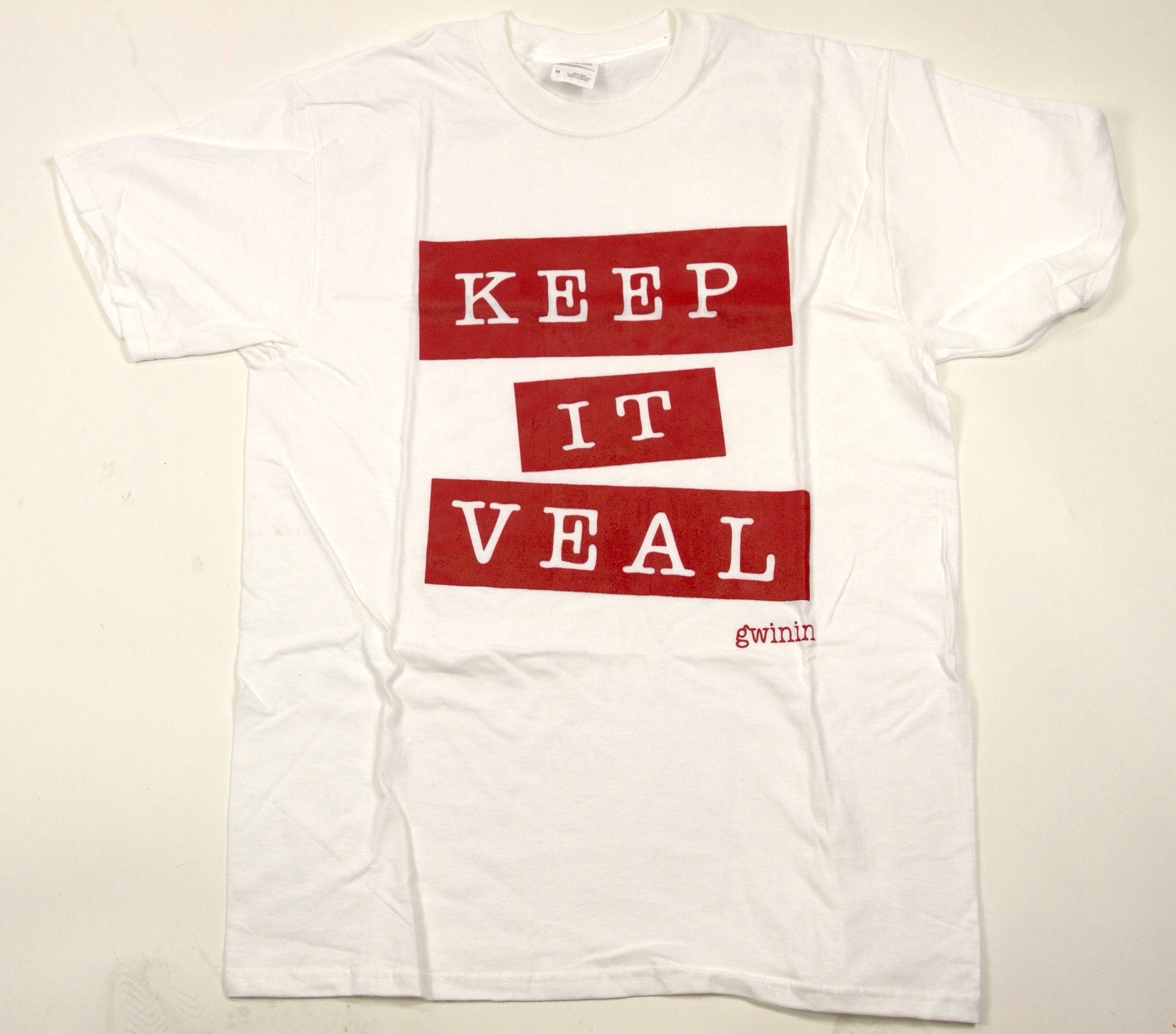 Men's Keep It Veal White T-Shirt
