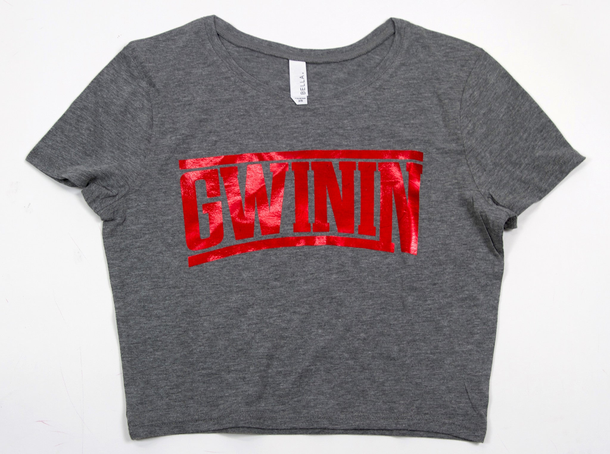 Gwinin Grey Crop Top