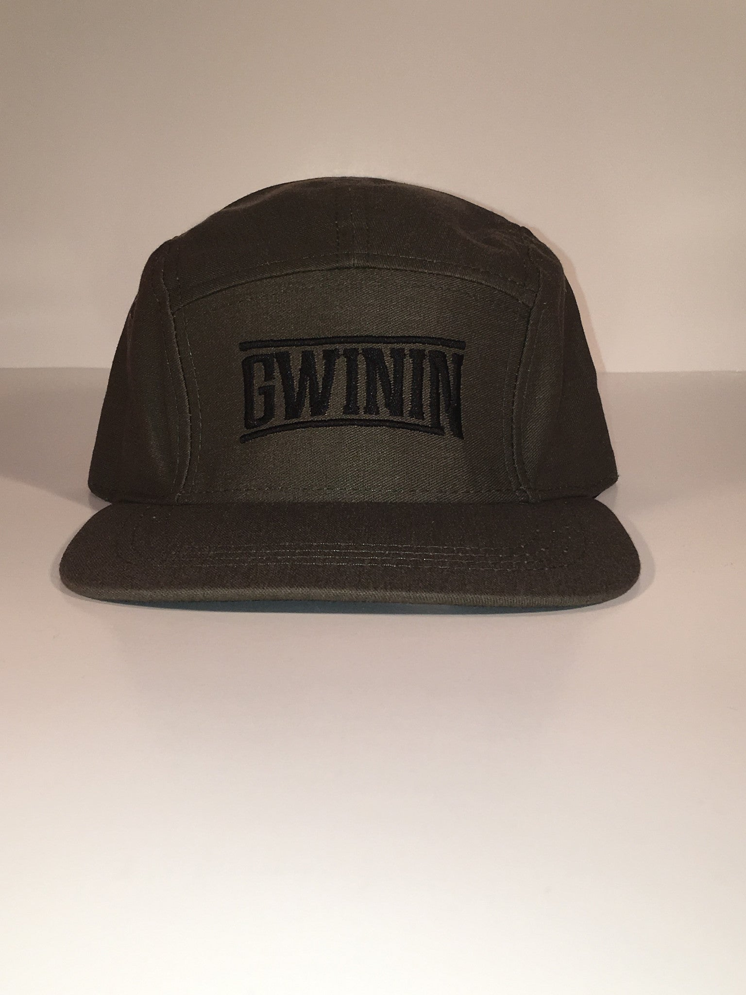 Olive Green 5 Panel Gwinin Snapback