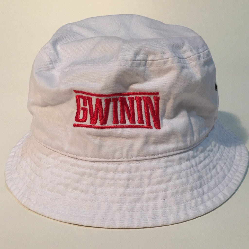 White and Red Bucket Hat
