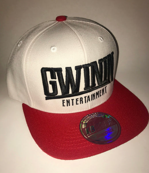 Cream and red snapback