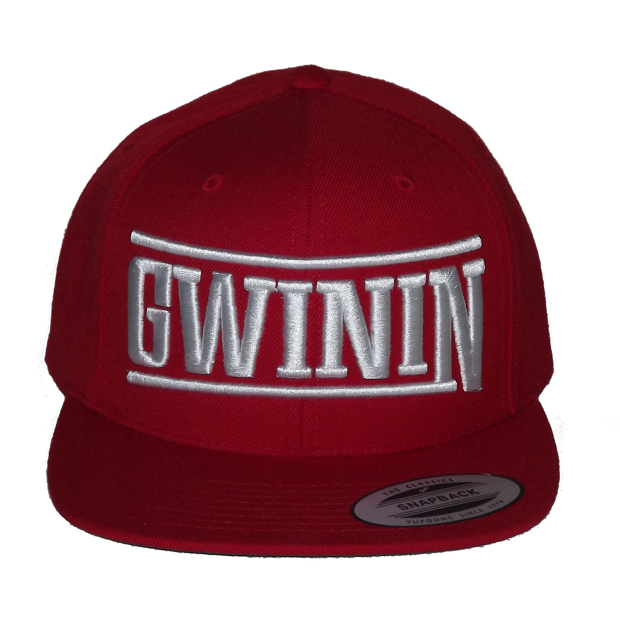 Red and White Classic Gwinin Snapback