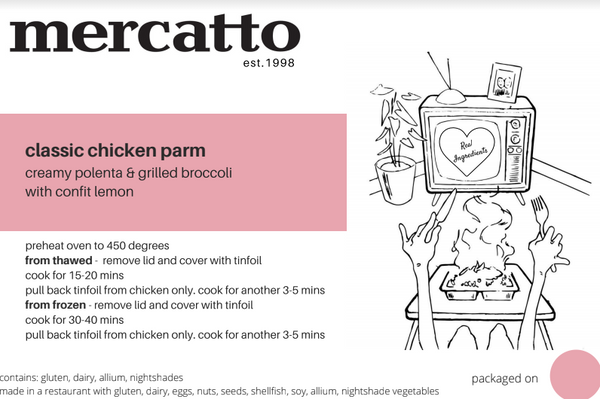 Mercatto® Mercatto TV Dinner Classic Chicken Parm 466g