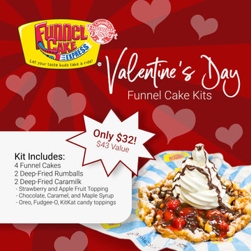 Funnel Cake Express® Valentine's Day Funnel Cake Kit - 4 pcs
