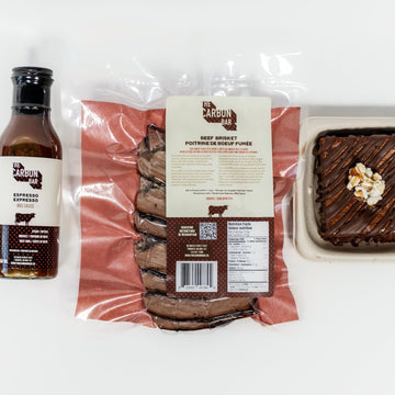 The Carbon Bar® Beef Brisket, Espresso BBQ Sauce & Gluten-Free Nutella Brownie Combo - 1 lb, 1 Bottle & 1 Brownie