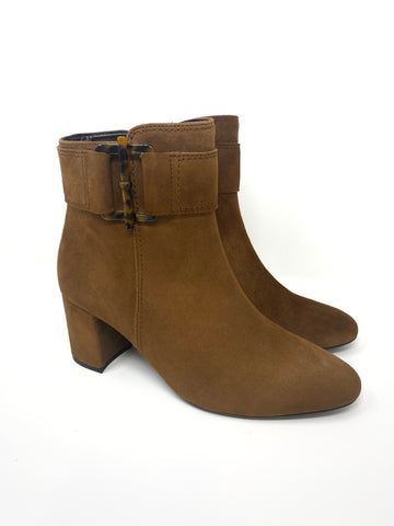 Brown Suede Boot With Zip