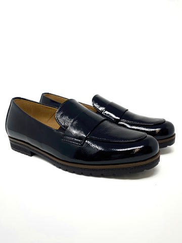 Black Shiny Loafer