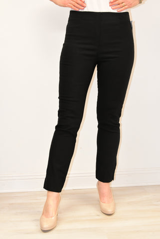 Black Trousers With Elasticated Waist