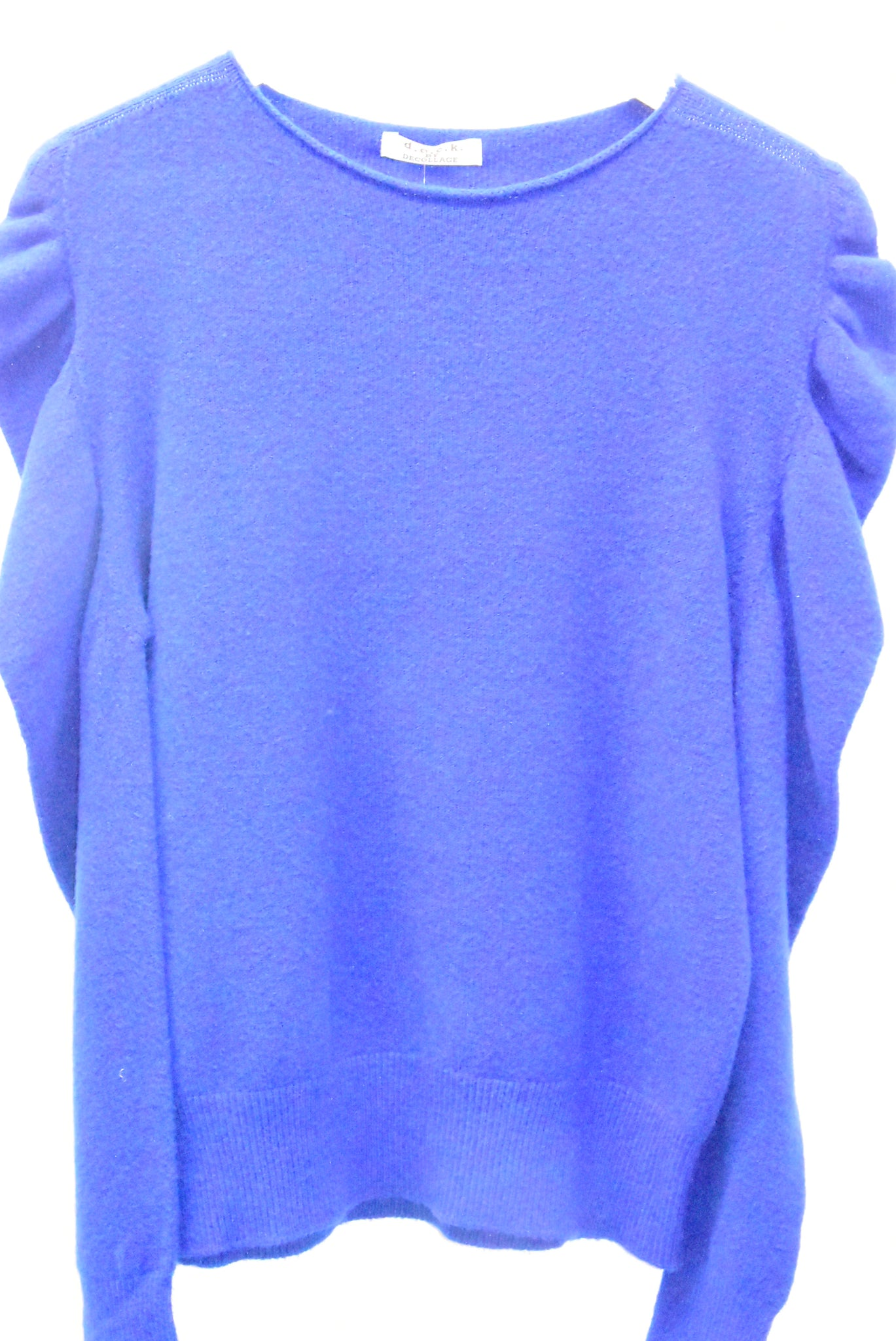 Royal Blue Jumper With Ruffle Sleeves