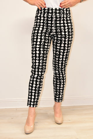 Black Trousers With White Dot Design