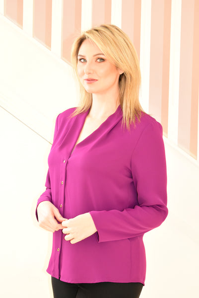 Purple Blouse With Button