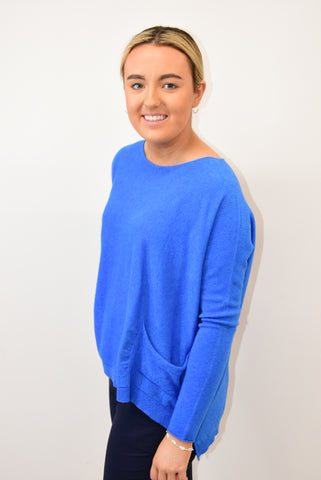 Deck Blue Jumper With Pockets