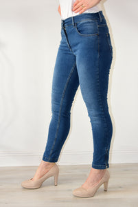Twigy Jeans With Ankle Zips Denim