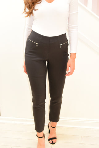 Robell Charcoal 'Mimi' Trousers With Zips