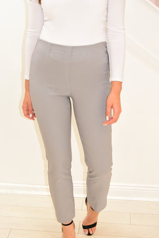 D.e.c.k Trousers With Elasticated Waist Light Grey