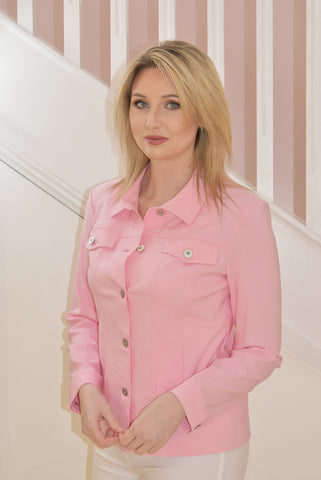 Baby Pink 'Happy' Jacket with Collar