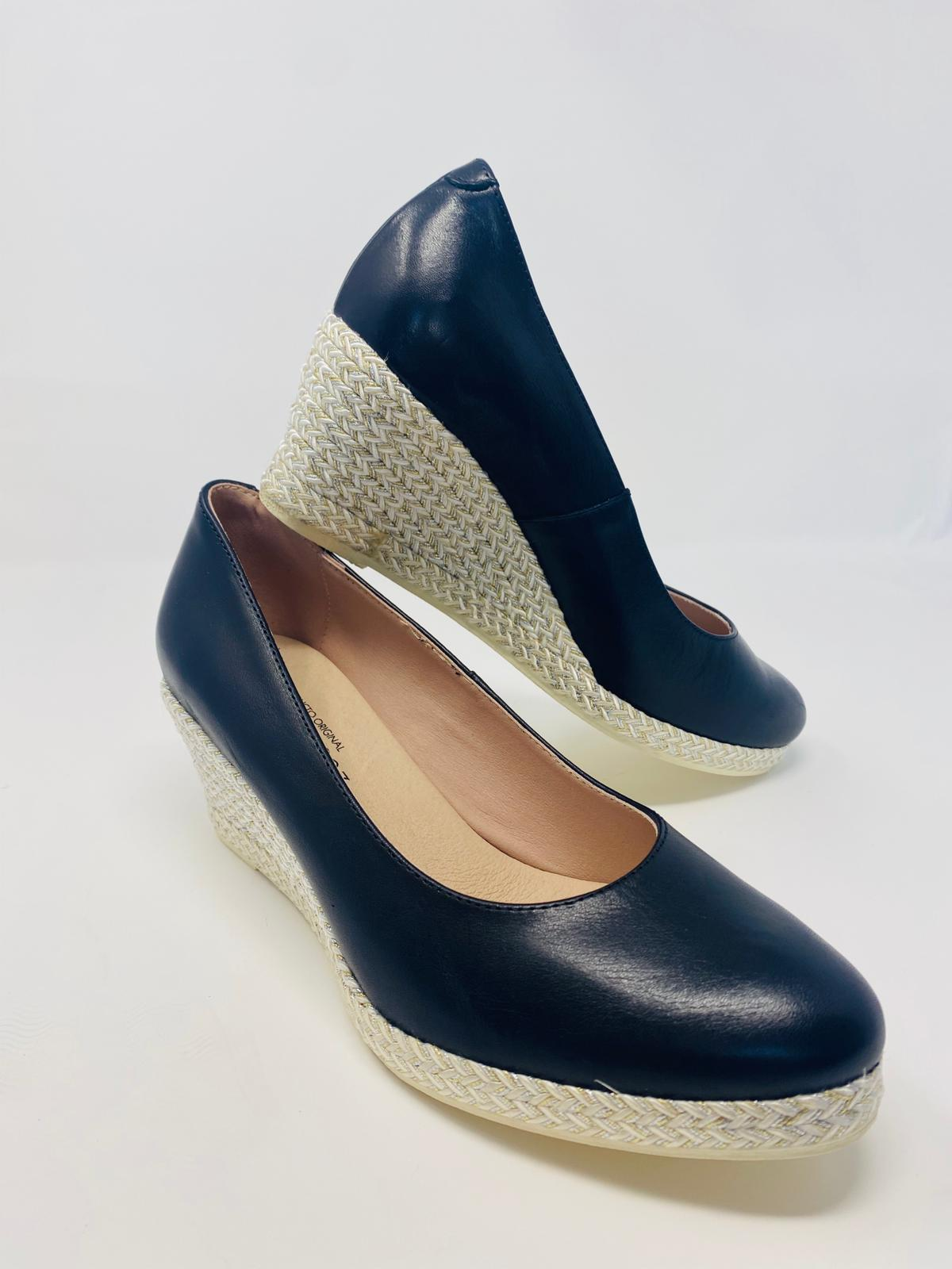 Jose Saenz Black Wedge Shoe