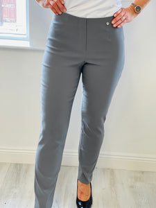 Grey Long Length Marie Trousers