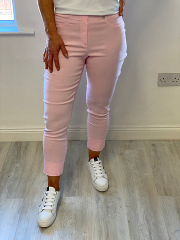 "Pink ""Bella"" 3/4 Length Stretchy Trouser"