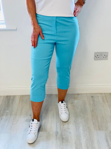 Sky Blue Rose Trouser
