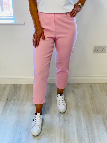 "Baby Pink ""Lena"" Lattice Trousers"