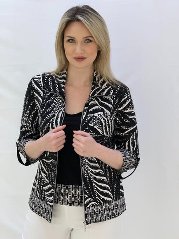 Black and White 2-Piece Jacket and Cami Set