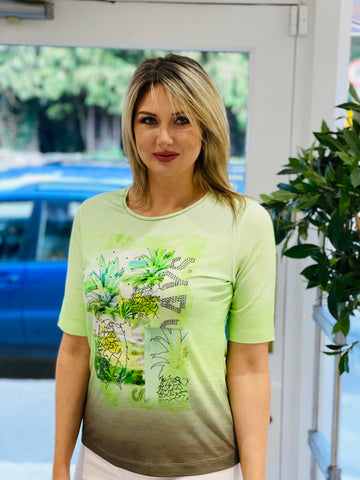 Green Pineapple T-Shirt With Diamante Detail