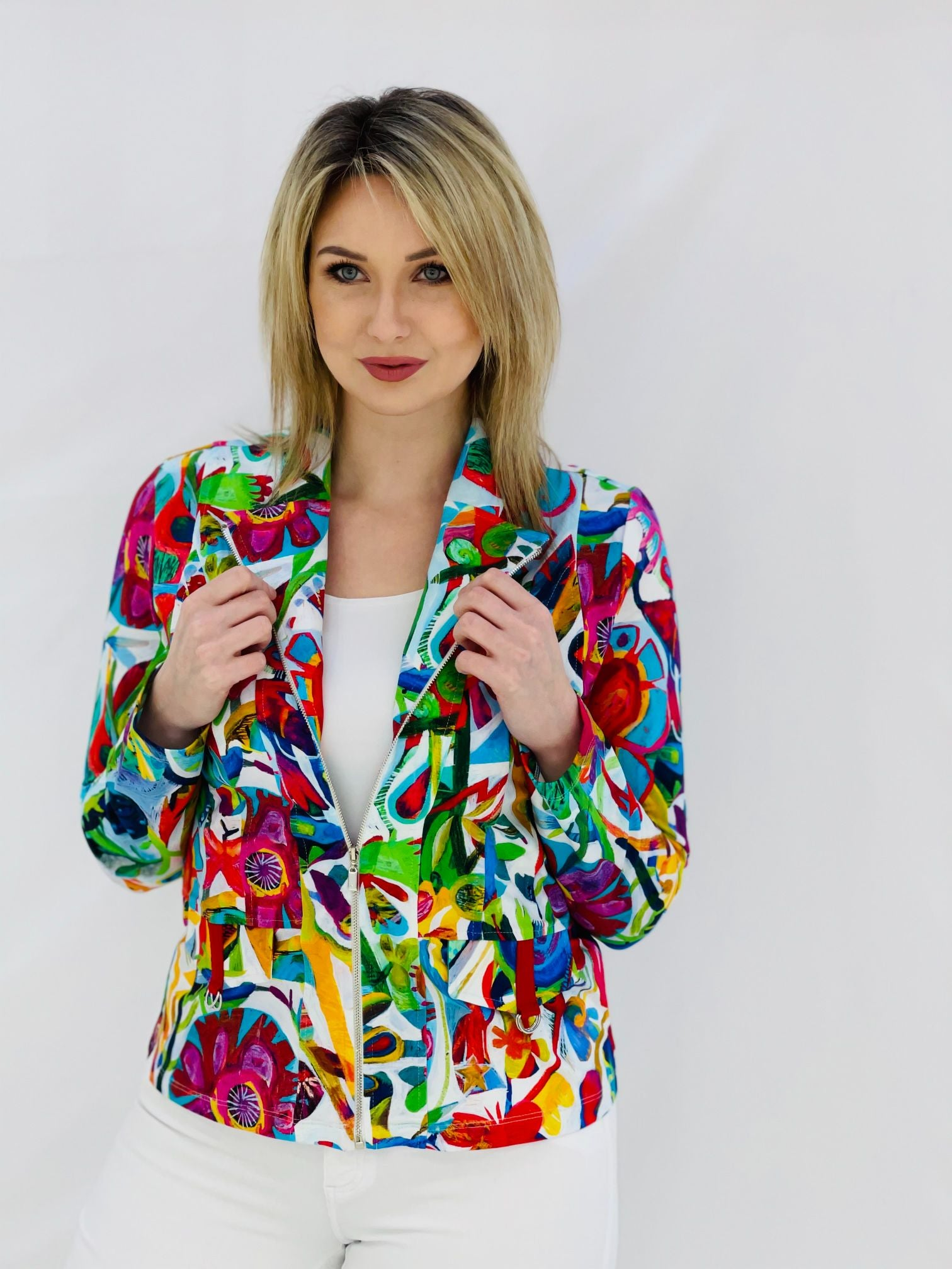 Biker Style Jacket With Este MaCleod  Art Design