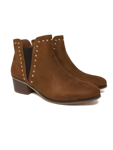 Ankle Boots With Studs Caramel