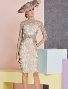 Lace Dress with Diamonds