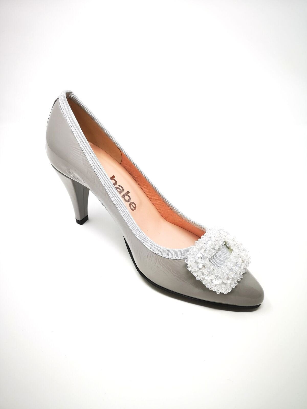 Patent High Heel With Sequin Detail On Toe